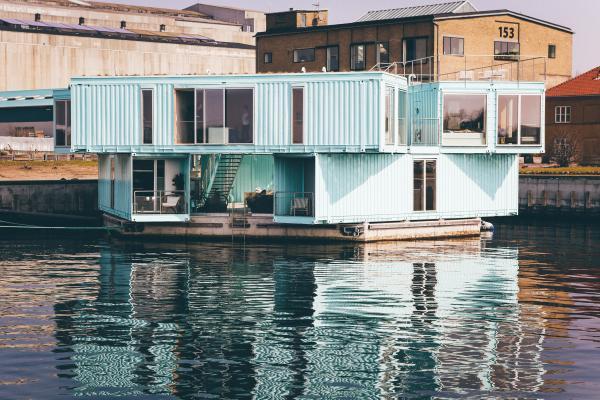 Container-Hausboot in Kopenhagen