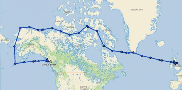 Der Weg durch die Fury-und-Hecla-Strasse in der Nordwest-Passage