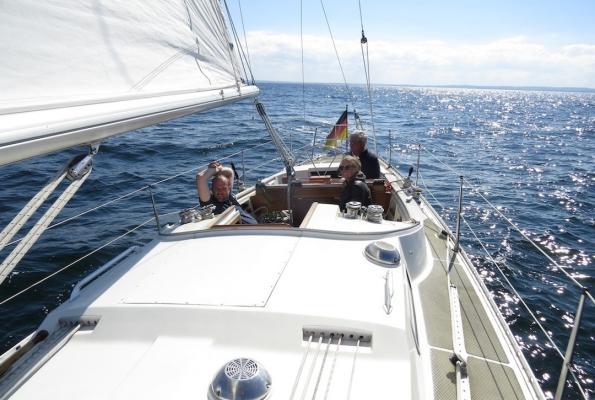 Eine Windstärke-Segeln auf der Ostsee