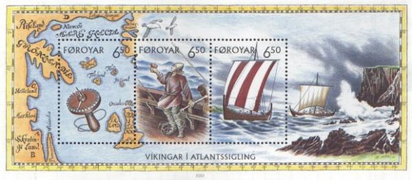 Briefmarke «Wikinger besegeln den Nordatlantik mit Sonnenkompass»