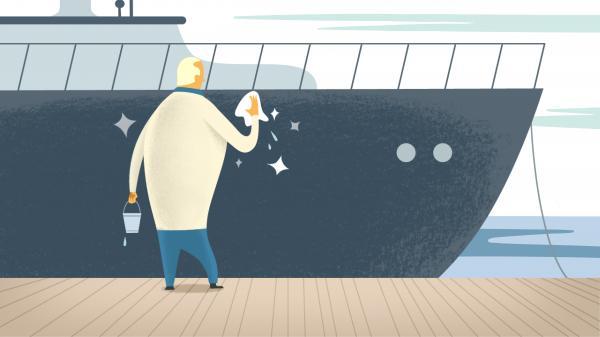 Kleiner Aufwand, grosse Wirkung. Reinigen Sie Ihr Boot nochmals gründlich.