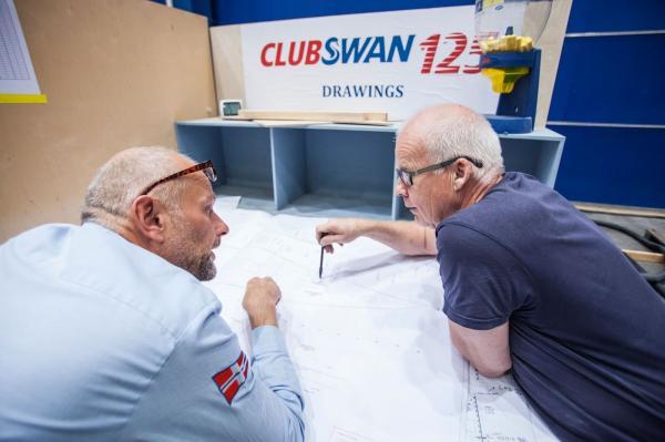 Vorbereitung der Club Swan 125