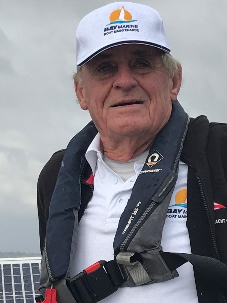 Alter Mann auf dem Meer: Jon Sanders