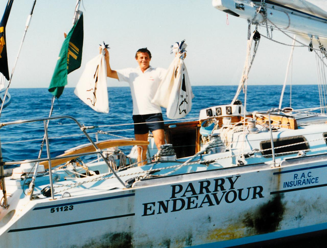Jon Sanders während seines Rekordtörns 1987