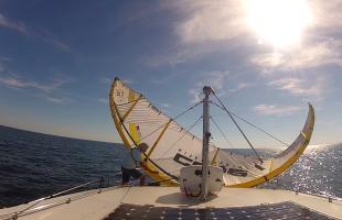Wind tanken (Kite für Motorboote)