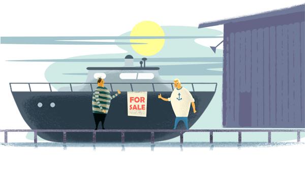 Reinigung Boot